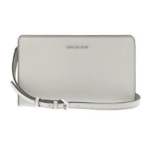 Michael Kors Cement Grey Large Crossbody Jet Set